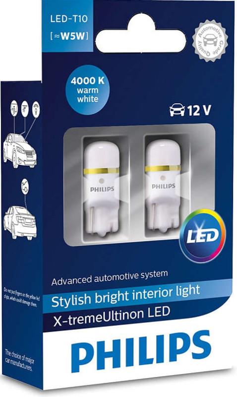 Philips X-treme Ultinon W5W LED, 4000K,  pærer med op til 12 års levetid thumbnail