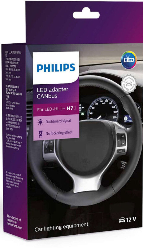 Philips H7 LED adapter CANbus Kit (snydemodstand ((2 stk)) thumbnail