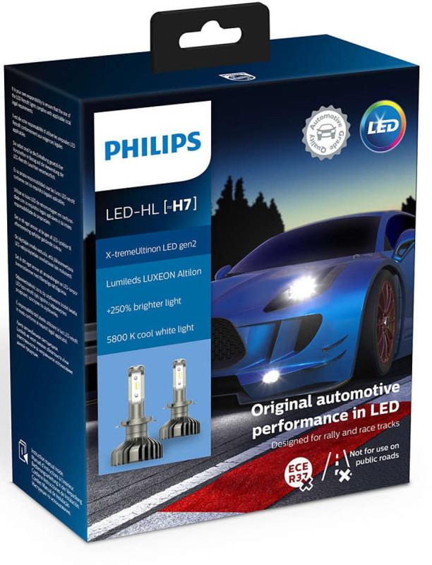 Philips X-treme Ultinon H7 LED +250% mere lys (2 stk.) thumbnail