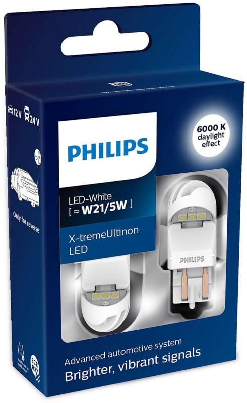 Philips X-tremeUltinon W21/5W LED-White, Gen2, Baglygte/bremselys pærer (2stk) med op til 12 års levetid thumbnail