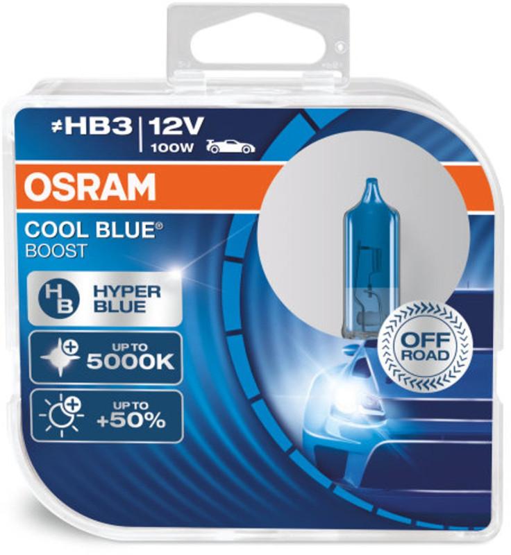 Osram HB3 Cool Blue Boost pærer med +50% mere lys, (2 stk) pakke thumbnail