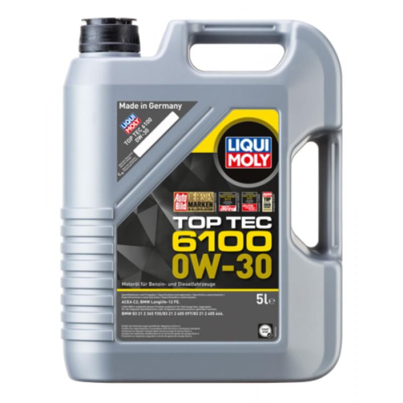 Top tec 6100 Liqui moly 0W30 Motorolie i 5l thumbnail